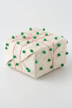 Handpainted Pompom Wrapping Paper - anthropologie.com