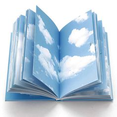 Cloud Book - good use for extra decorative paper? Bind it all together in one book?