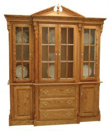 Fit for a queen? We think so... Our Clarkston Cathedral China Cabinet is strikingly beautiful...just like a Queen.