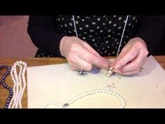 Fabulous How To: Stringing Pearls with Angie (AKA Super Gran) from Jersey Pearl. We caught up with the fabulous Angie Taylor (AKA Super Gran) from Jersey Pearl. She took some time out of her busy schedule at Spring Fair to show us how to string pearls. Homemade Jewelry, Diy Jewelry Making, Jewelry Tags, Jewelry Crafts, Pearl Beads, Pearl Jewelry, Jewlery, String Crafts, Jewelry Trends