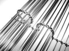 Cladding of stainless steel / metal / shiny / grid GOLF ROMEO SMALL Twentinox
