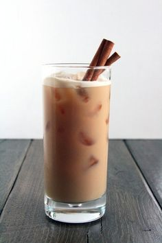 Vanilla Vodka Chai - Strong Brewed Chai Tea, Vanilla Vodka, Amaretto, Half & Half...  best girly alcoholic drink ever. Hmm, guess who this is for.