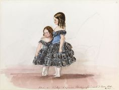 1846; Alice and Victoria, painted by their mother.