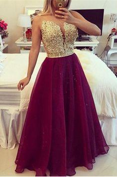 Sexy V-neck Sleeveless Prom Dress Beadings Crystals Floor-length_Prom Dresses 2016_Prom Dresses_Special Occasion Dresses_High Quality Wedding & Evening Prom Dresses at Factory Price-27DRESS.COM