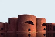 Louis I. Kahn completed the National Assembly Building in Dhaka, Bangladesh, in 1982.