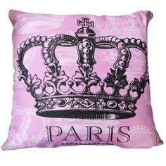 ALMOFADA COROA PINK PARIS