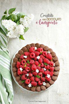 Crostata golosa con cioccolato e lamponi
