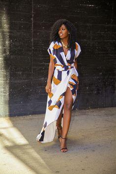 Beautiful DVF wrap dress. source: Folake from StylePantry.com