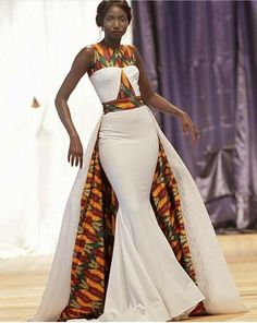 jadoreafrica African Dress with Cape / African Dresses / African Maxi Dress / African Clothing / Ankara Maxi Dress / African Prom Dress / African Print African Wedding Attire, African Attire, African Wear, African Style, African Dress Styles, African Print Wedding Dress, African Weddings, African Women, Ankara Styles