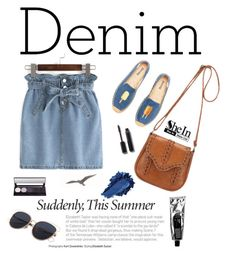 """""""Double Down on Denim (SheIn)"""" by shambala-379 ❤ liked on Polyvore featuring Soludos, Chanel, denim, Sheinside, polyvorefashion and shein"""