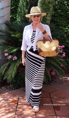 Resort casual for the modern woman over 50 means easy wearing knits with non fussy lines.