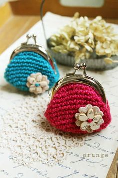 crochet purse. I just bought some of these purse closures looking forward to making some change purses!