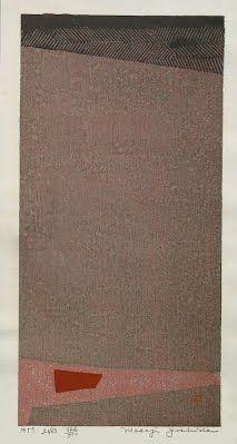 Ground No. 3  by Masaji Yoshida, 1959 - Japanese Color Woodblock Print -  The Lavenberg Collection of Japanese Prints