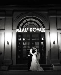 The classic front door shot. Palais Royale Ballroom in Toronto Wedding Venues Toronto, Best Wedding Venues, Sophisticated Wedding, Trendy Wedding, Diy Wedding Cake, Wedding Decorations, Wedding Arch Rustic, Sapphire Wedding, Background For Photography