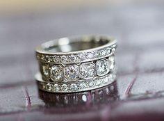 vintage platinum and OEC diamond wedding band - Google Search