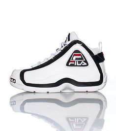 FILA Mens high top sneaker Fila logo on sides of shoe Padded tongue with logo Cushioned inner walls and sole for comfort and performance