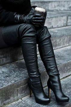 Dames de haut talon carré Chelsea Boots de Onlineshoe Femmes