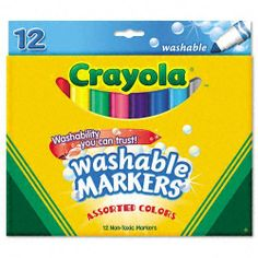 Crayola Products - Crayola - Non-Washable Markers, Broad Point ...