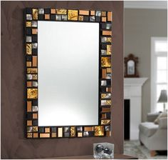 6 Affluent Clever Tips: Black Wall Mirror wall mirror rectangle gold. Mirror Wall Collage, Mirror Gallery Wall, White Wall Mirrors, Silver Wall Mirror, Vanity Wall Mirror, Rustic Wall Mirrors, Wall Mirrors Entryway, Mirror Mosaic, Mirror Bedroom