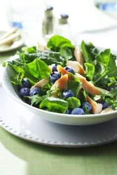 Blueberry Salad with Smoked Trout