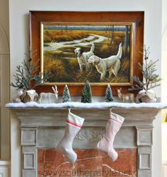 Savvy Southern Style: Into The Woods.....Christmas Mantel