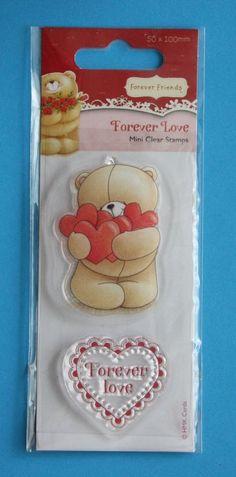 NEW Docrafts Forever Friends 'Forever Love' Clear Stamp - Valentines, Wedding .