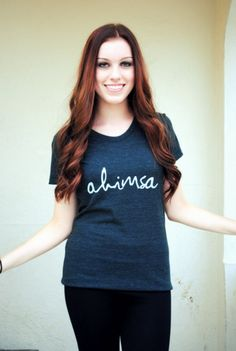 This is my next tattoo so naturally i should also have a shirt.  :)  Ahimsa Tee by LoveInfinitely on Etsy, $28.00