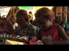 Soloman Island Kids Open Boxes-Operation Christmas Child