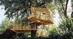 As casas servem como verdadeiros refúgios, onde as pessoas podem relaxar na copa das árvores Foto: Divulgação / Baumraum