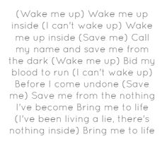 evanescence bring me to life lyrics liked on polyvore