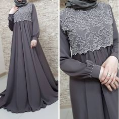 Image may contain: one or more people and people standing Hijab Gown, Hijab Evening Dress, Hijab Dress Party, Hijab Style Dress, Modest Fashion Hijab, Abaya Fashion, Fashion Dresses, Mode Abaya, Mode Hijab