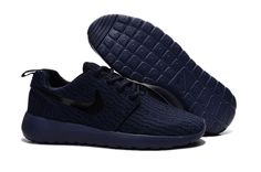 Cheap Nike Roshe One Yeezy 350 All Navy Blue Black,www.freerundistance.com