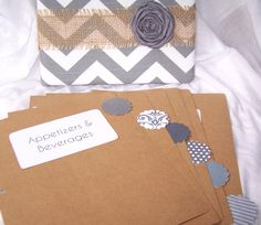 Recipe Binder Dividers Gray and White Chevron by peachykeenday Chevron Fabric, Grey Chevron, Gray, Cute Crafts, Crafts To Make, Diy Crafts, Recipe Organization, Organization Ideas, Binder Dividers