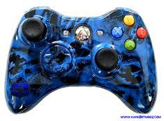 KwikBoy Modz - Blue Battered Skulls Xbox 360 Controller, $79.99 (http://www.kwikboymodz.com/blue-battered-skulls-xbox-360-controller/)