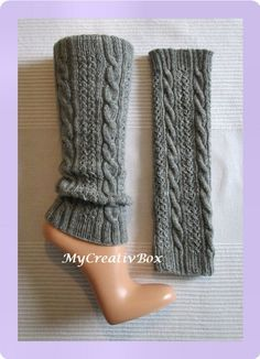 Beinstulpen-Strickanleitung - PDF The Effective Pictures We Offer You About handschuhe sitricken kle Crochet Leg Warmers, Crochet Boot Cuffs, Crochet Boots, Knitting Socks, Knit Crochet, Crochet Gloves Pattern, Crochet Stitches Patterns, Knitting Patterns, Leg Warmer Knitting Pattern