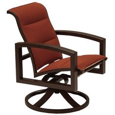 Tropitone Lakeside II Padded Sling Rocking Chair Finish: Graphite, Fabric: Sparkling Water