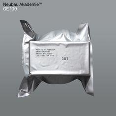 (via Neubau Akademie GE 100 Group Exercise on Behance) Vacuum Packaging, Brand Packaging, Packaging Design, Perfume Packaging, Identity Design, Brand Identity, Branding, Web Design Mobile, Number Stamps