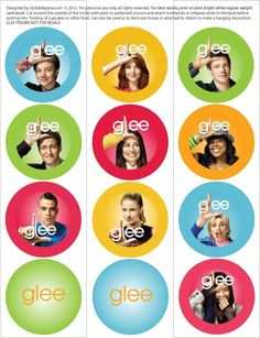 Glee cupcake toppers
