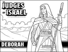 deborah judges bible coloring pages | Free Bible Coloring Pages - Bible Story Pages - Printable ...