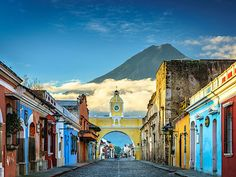 Daniel Burton's dramatic Santa Catalina Arch, Antigua Guatemala, against the dramatic background of the Volcan Agua was shortlisted Travel Tours, Travel News, Travel Advice, Online Travel Agent, Guatemala City, Mont Saint Michel, City Photography, Photography Awards, Amazing Photography