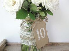 Custom Rebecca 115 Table Numbers  wedding table by AlisaMayde, $30.00