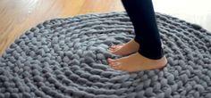 FeetOnCrochetRug