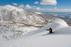 Niseko, Japan.  Looking for some of the deepest, driest powder in the world, look no further than Niseko.  Consisting of four resorts all on the Volcano of Niseko Annupuri.