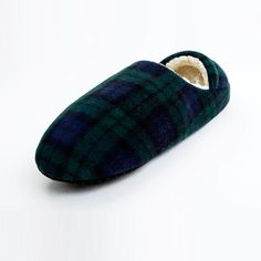 Sale 12% (6.89$) - YESMQN Men\s Plaid Slippers Warm Polar Fleece Bootee Slippers