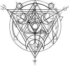 Alchemy Mystery / Sacred Geometry - codex and grimores Sacred Geometry Symbols, Geometry Art, Sacred Geometry Triangle, Sacred Geometry Tattoo, Geometric Tattoo Minimal, Geometric Mandala, Geometric Designs, Art Lotus, Tattoo Geometrique