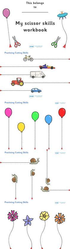 kniplesjes. övningsblad eller arbetsblad att skriva ut så barn kan lära sig klippa efter linjer.
