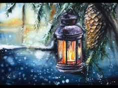 Watercolors Easy Holiday Cards II Painting Tutorial - YouTube