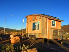 curved roof tiny house exterior boulder tiny house front