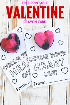 free printable Valentine crayon card
