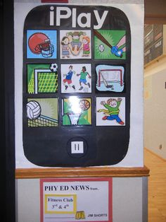 Phy Ed iPlay Awesome bulletin board